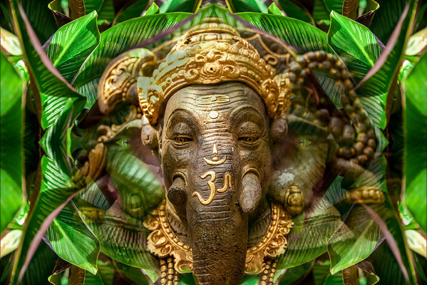 Green Ganesha - After the Rain