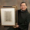 """Fr. Mateo Zamora was gifted a framed page from the Gospel of Matthew for his priesthood ordination<br /> by the parish of Saint William in London where he was serving as a deacon. The manuscript was printed in 1521, the same year the Catholic faith came to the Philippines, where Fr. Mateo grew up. """"There's that connection from my ministry in the Diocese of Lexington and the name that I have now as a monk,"""" says Fr. Mateo."""