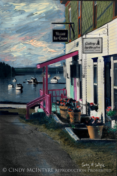 Main Street, Port Clyde, Maine - ice cream shop and art gallery