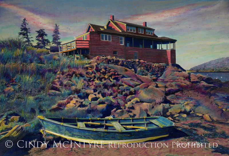 The Red House, Monhegan Island, Maine