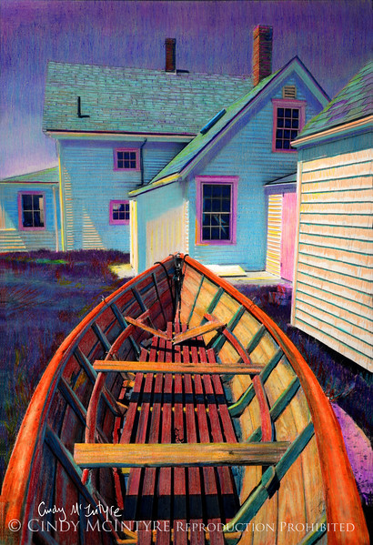 Monhegan Dory - Monhegan Island, Maine - at lighthouse museum