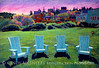 Monhegan Chairs - Monhegan Island adirondack chairs and village