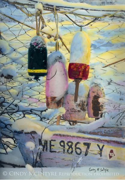 Winter Buoys - Tenants Harbor Maine