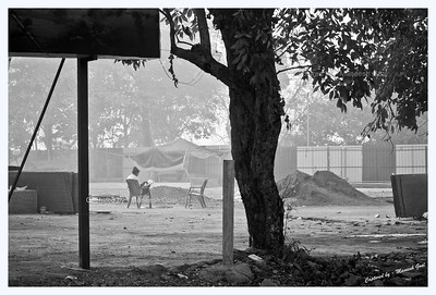 Reading on a Hazy Morning | Mumbai