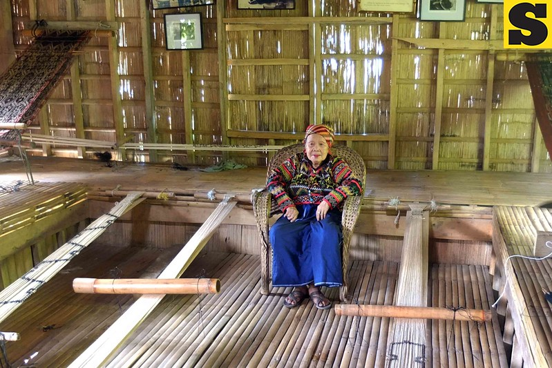 CAGAYAN DE ORO. These two bamboo contraptions are used for weaving designs which Lang Dulay is using for the other weavers as guide. (Bobby E. Lagsa)