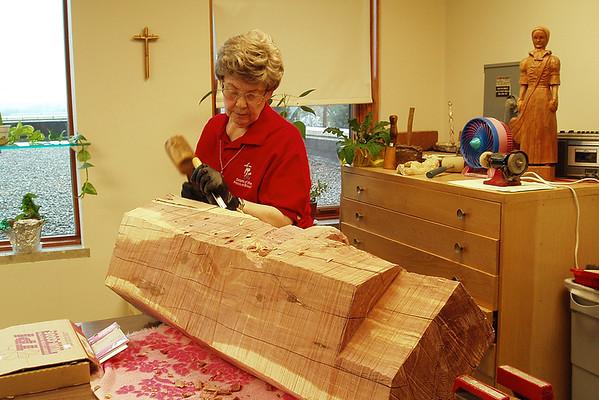 Mother Brunner Statue Carving