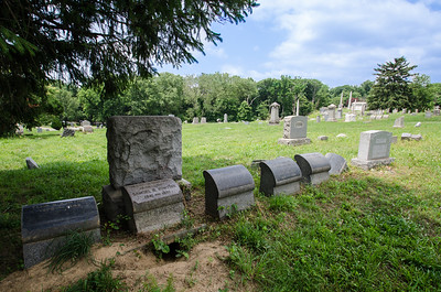 Animals had burrowed under some of the headstones and monuments making them more likely to tip over as well.