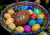 Pysanky Eggs created by Pamela Gompf and on display during Art Walk held last wednesday in Mukilteo, sponsored by Mukilteo Artists Guild