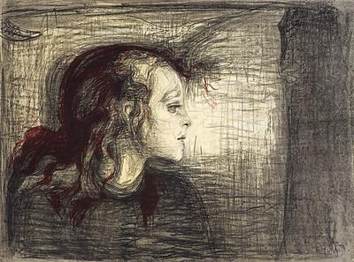 Das kranke Mädchen [The Sick Child I]
