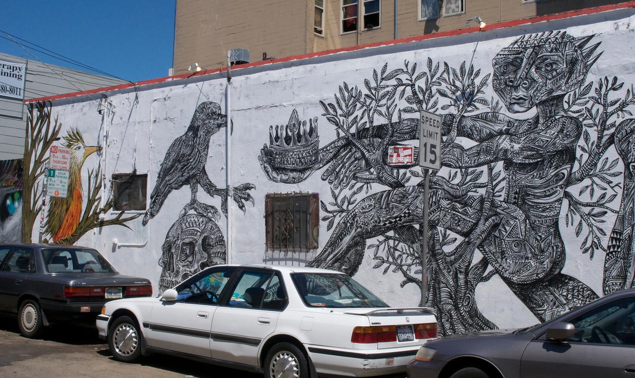 More of Zio Ziegler's mural.