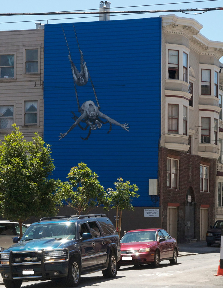 This is a stunning work near the BART Station on 16th & Mission.
