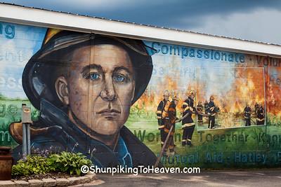 Volunteer Firefighter & EMT Mural, Wittenberg, Wisconsin
