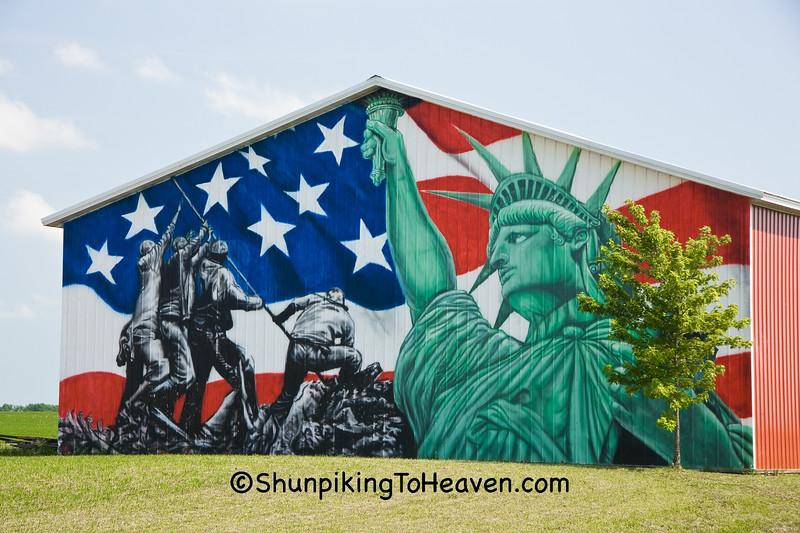 Patriotic Mural, Cedar County, Iowa
