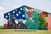 Patriotic Mural, Cedar County, Iowa