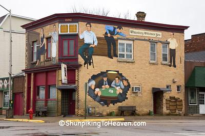 Saloon Scene Mural, Wittenberg, Wisconsin