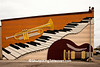 Music Mural on Bertie's Music Bar, Richmond, Indiana