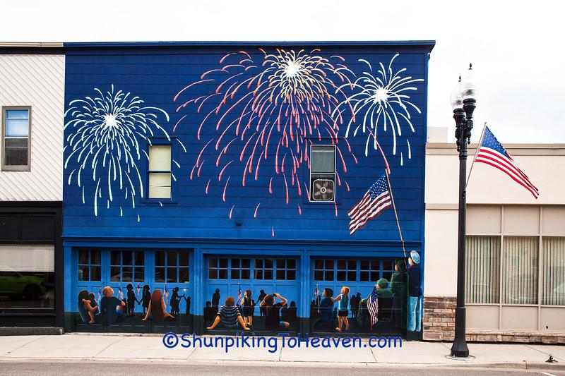 Fireworks Mural, Wittenberg, Wisconsin