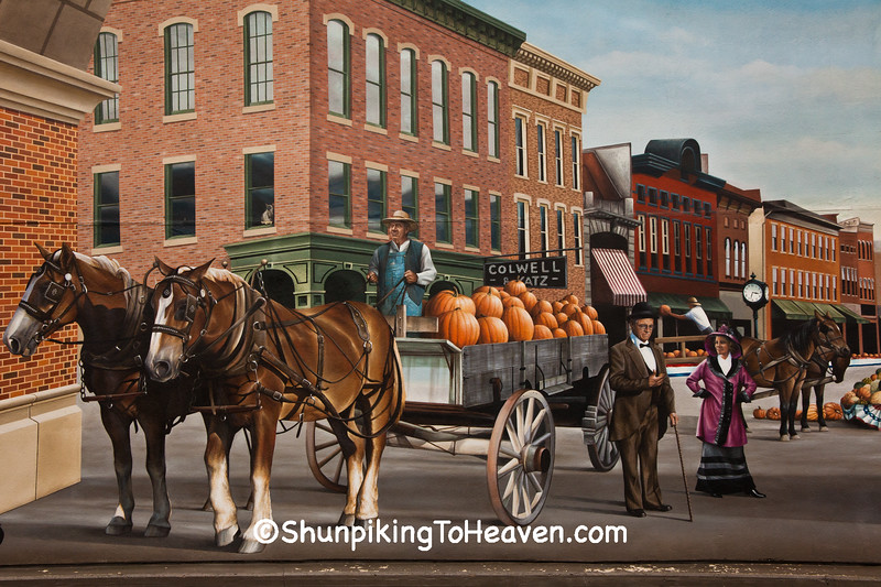 Pumpkin Show 100th Anniversary Mural, Circleville, Ohio