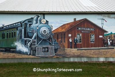 Railroad Mural, Wittenberg, Wisconsin