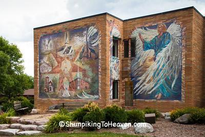 Religious Fresco Mural, Wittenberg, Wisconsin