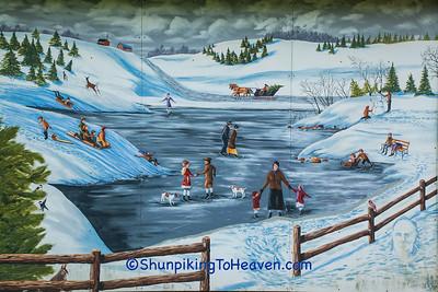 Skating Mural, Wittenburg, Wisconsin