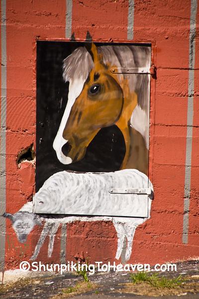 Mural at Bourbon Roller Mill, Bourbon, Missouri