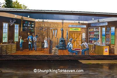 Hardware Store Mural, Wittenberg, Wisconsin