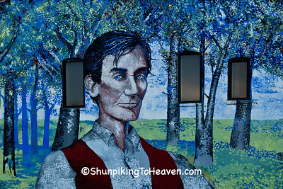 Young Abraham Lincoln Mural by Michael J. Mayosky, Springfield, Illinois