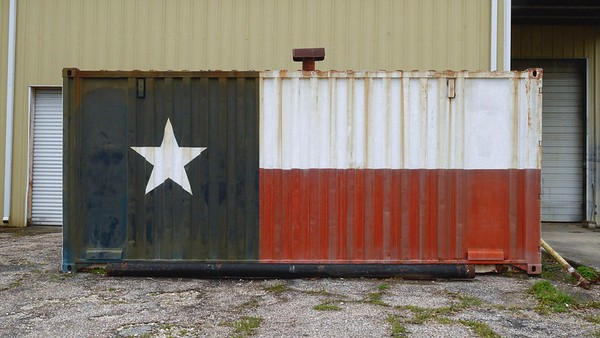 Texas Flag Container
