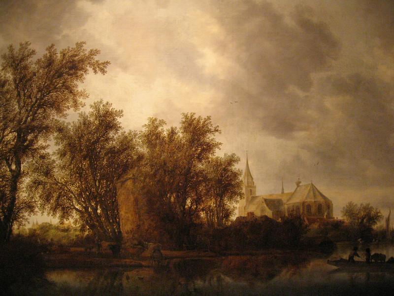 """Landscape with a Ferry"" by Salomon van Ruysdael."