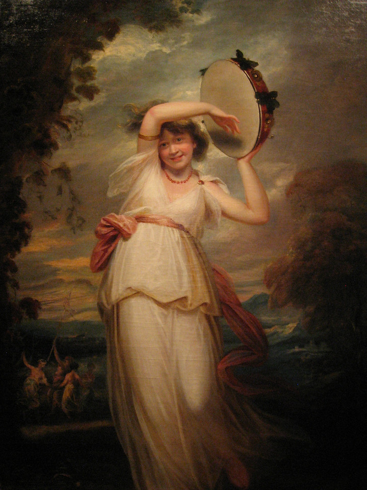 """Portrait of Emily St. Clare as a Bacchante"" by John Hoppner."