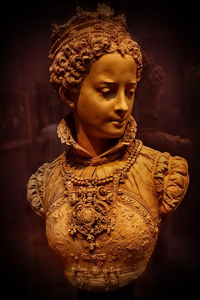 Woman Clay head & bust