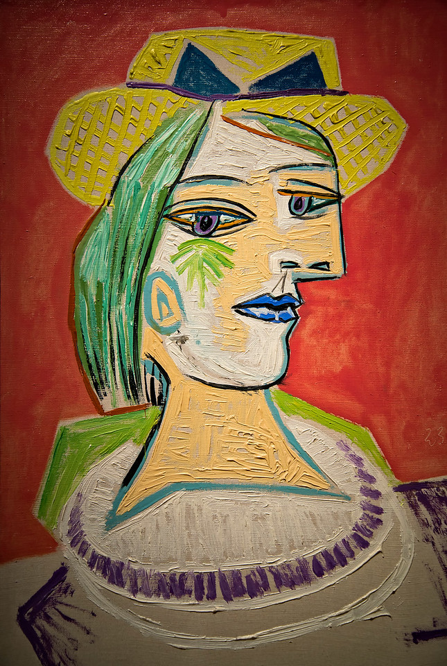 Picasso woman in yellow hat