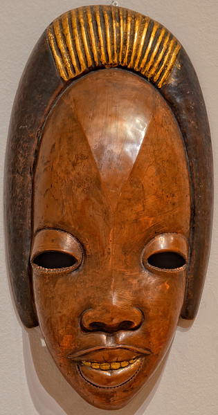 Copper mask - African