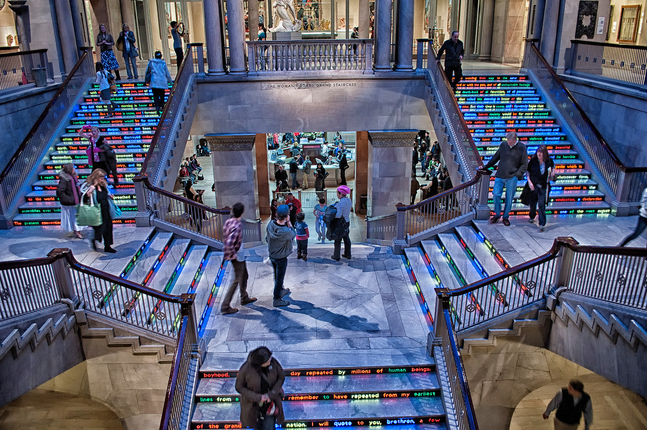 Chicago art museum stairs
