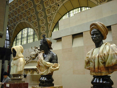 Busts in the sculpture gallery, Musee d'Orsay, Paris