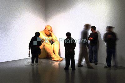 Big Man in the National Gallery, Washington, DC