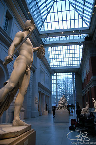 The Met sculpture court.