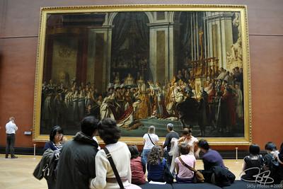 Napoleon Coronation by David.  The Louvre