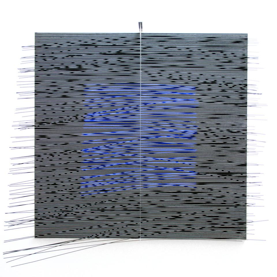 Jesus Rafael Soto  Virtual Cobalto (1978 / 1979) Beaubourg (Musee National d'Art Moderne) Paris