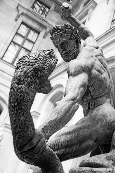 François-Joseph Bosio : Hercule combattant Achéloüs métamorphosé en serpent