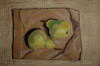 Pears on a Bag in Pastels