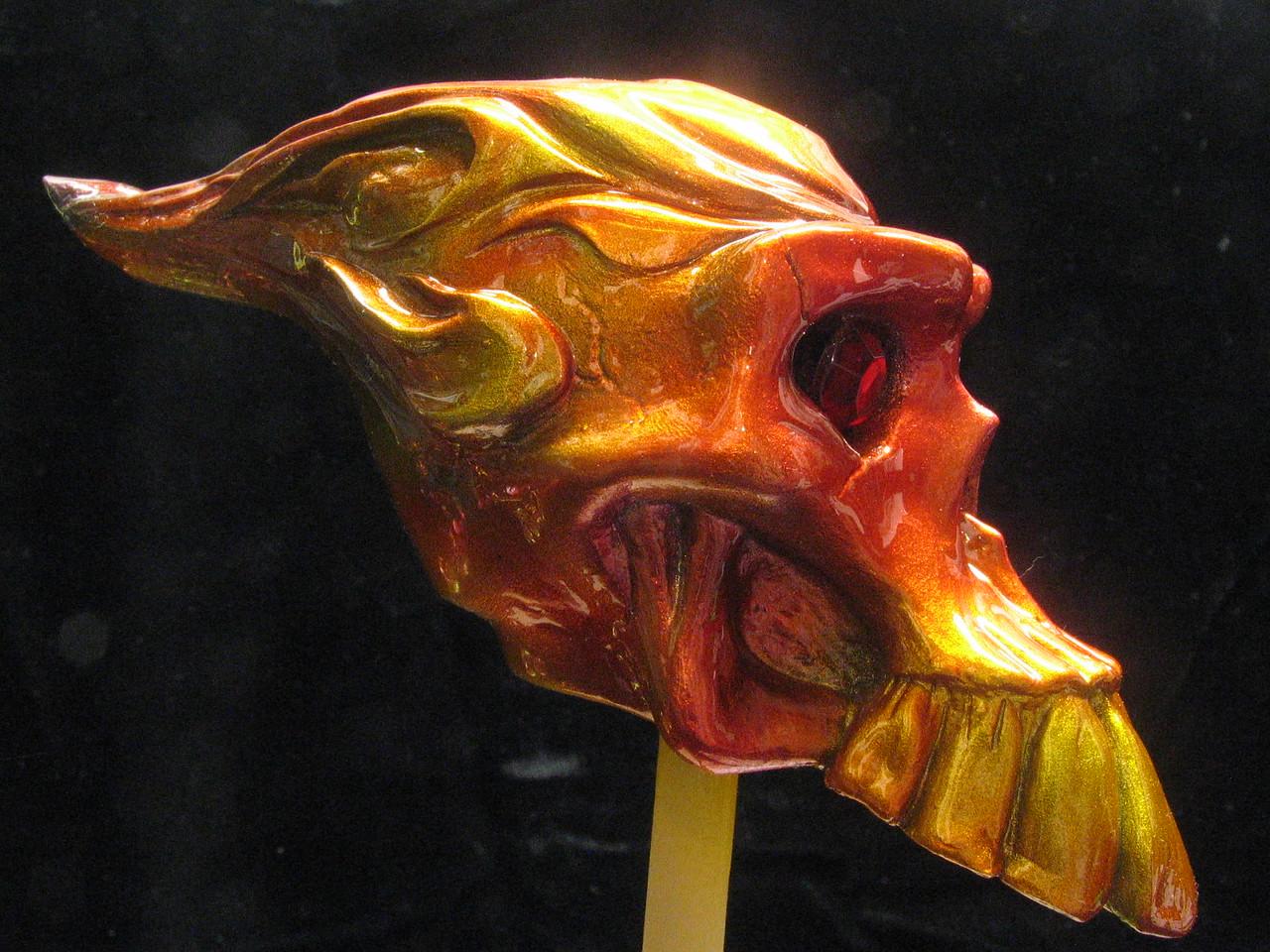 Flamed skull