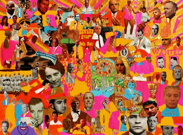 Thou Shalt Lie, Cheat, Steal - mixed media on canvas - 36x48.