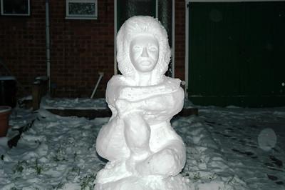 Snow woman!
