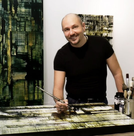 """Nicola Parente creates expressive abstract paintings and photography from his studio in Houston, Texas. Born in Italy, he draws from his rich Italian heritage and a deep well of cross-cultural experiences to bring his art to life.   Working in a variety of media, he engages the viewer in dialogues of human encounter within the urban environment.  Inspired by changes in metropolitan communities, his art defines the intersections of daily urban life and timeless multi-cultural celebration. His paintings capture the fluidity and static elements of the urban matrix, referencing the architectonic images, reflections, and rhythms of its landscape.<br /> <br /> In 2011, Parente was selected as Cadillac Texas Spirit Honoree, had a solo museum exhibition at the Manuel Felguerez Museum of Abstract Art in Zacatecas, Mexico, as well as a solo exhibition at Seranade Art House in Addis Ababa, Ethiopia. In 2010, Parente's work was selected for Texas Art 2010 juried exhibition and his series Edge of Awakening was featured in a solo exhibition at Gremillion & Co Fine Art.  That same year, he created a dynamic video/painting installation for Terminus, a Dominic Walsh Dance Theater production. In 2009, his work was featured in the Transparent/Translucent exhibition at the University of Texas Museum Gallery in San Antonio.<br /> <br /> Parente's works can be seen in public and private collections in the US and abroad.  He obtained a BS from King's College (PA) and a Masters degree from the University of St. Thomas (TX). He currently resides in Houston, Texas.<br /> <br /> <br /> <a href=""""http://nicolaparente.com"""">http://nicolaparente.com</a>"""