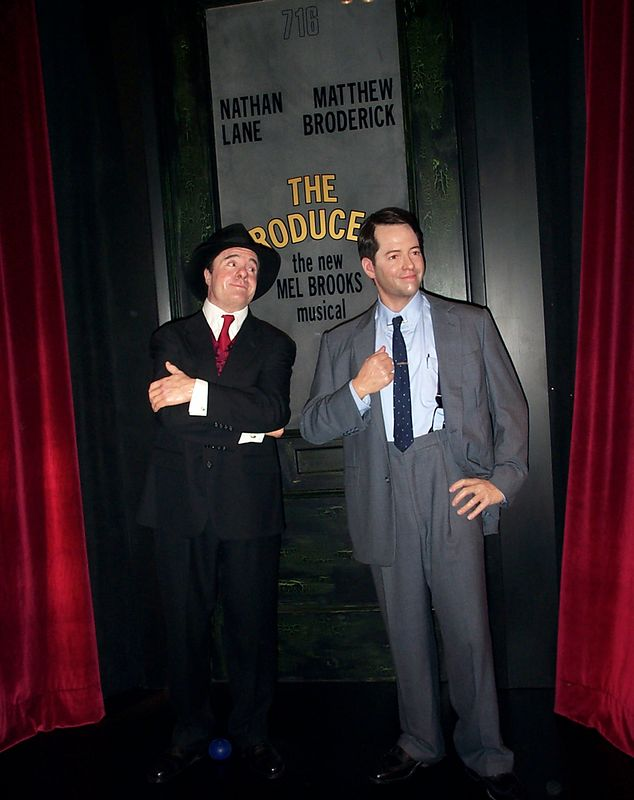 Nathan Lane and Mathew Broderick at the Wax Works