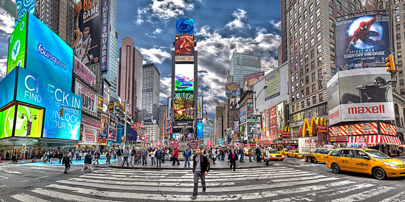 Crossroads of the World<br /> Canvas wrap available in sizes from 10x20 - 30x60