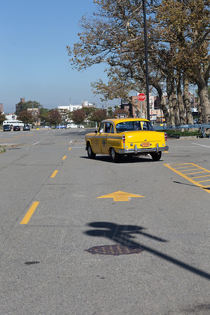Old Time Yellow Checkered Cab