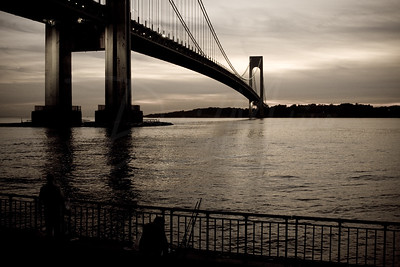 Verrazano Bridge & Shore Road at Dusk